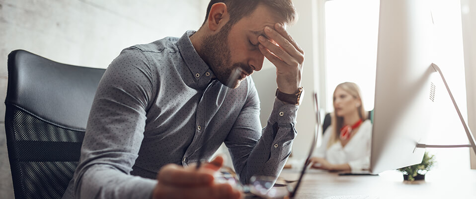 Two-thirds (64%) of workers have poor or below average mental wellbeing