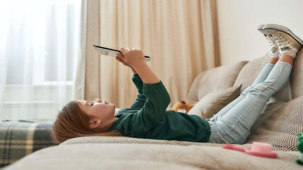 Child and iPad