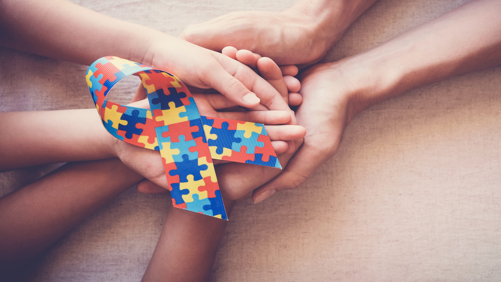 Autism Awareness child and mother