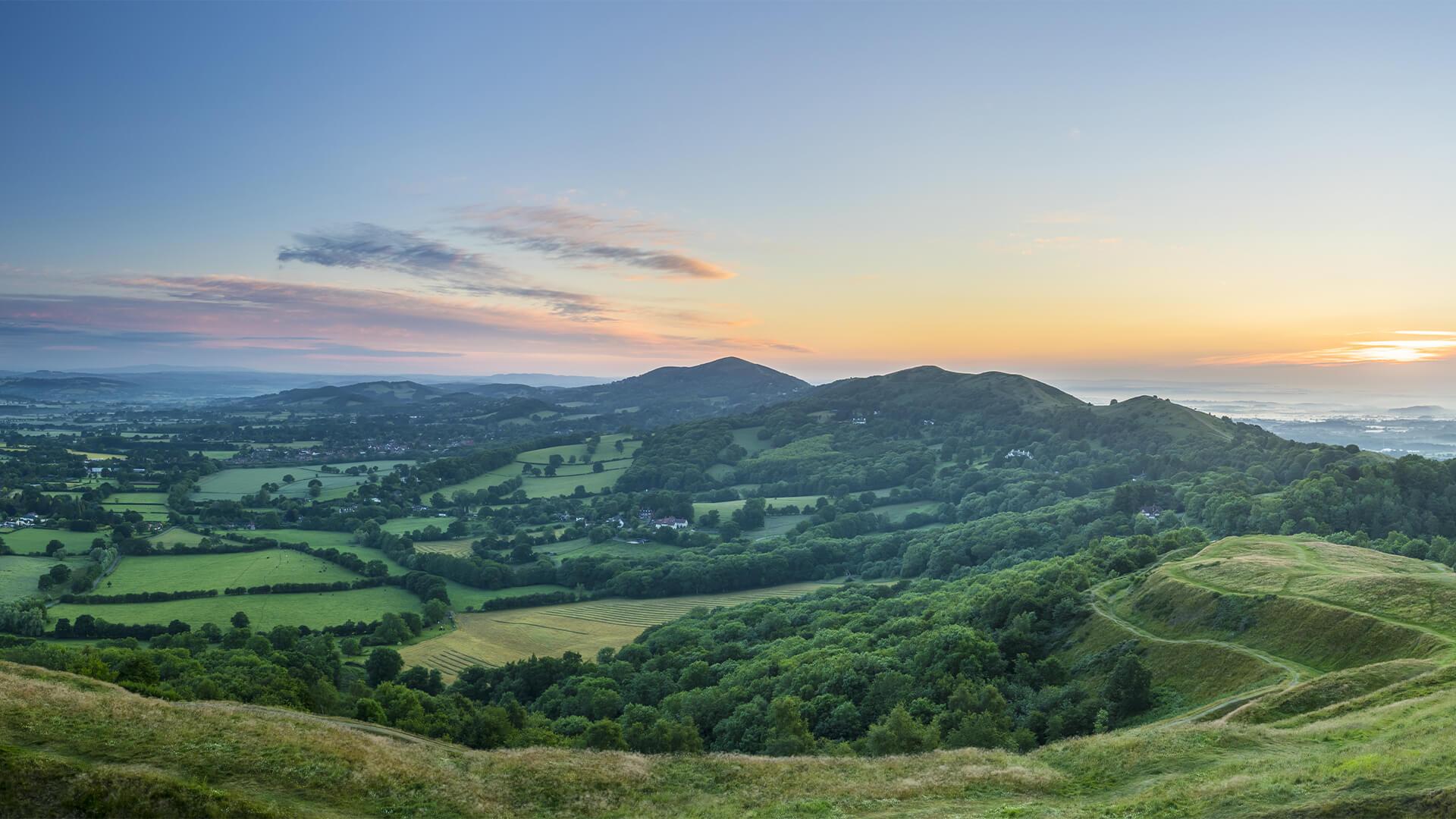 Malvern Hills in Worchesterhire